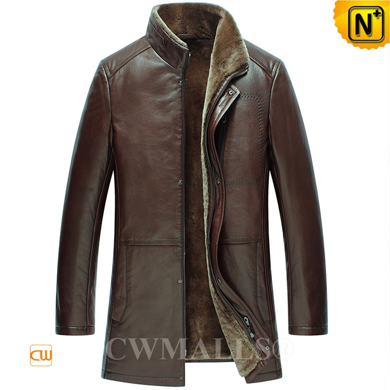 CWMALLS® Anchorage Shearling Brown Jacket Patent Design CW890015