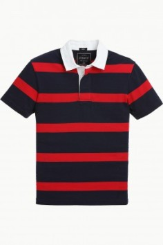 Stripe Knit Rugby T-Shirt