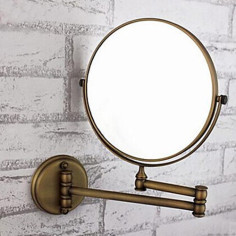 360 Degree Rotating 2X Magnifying 8 inch Wall Mount Cosmetic Mirror–Faucetsdeal.com